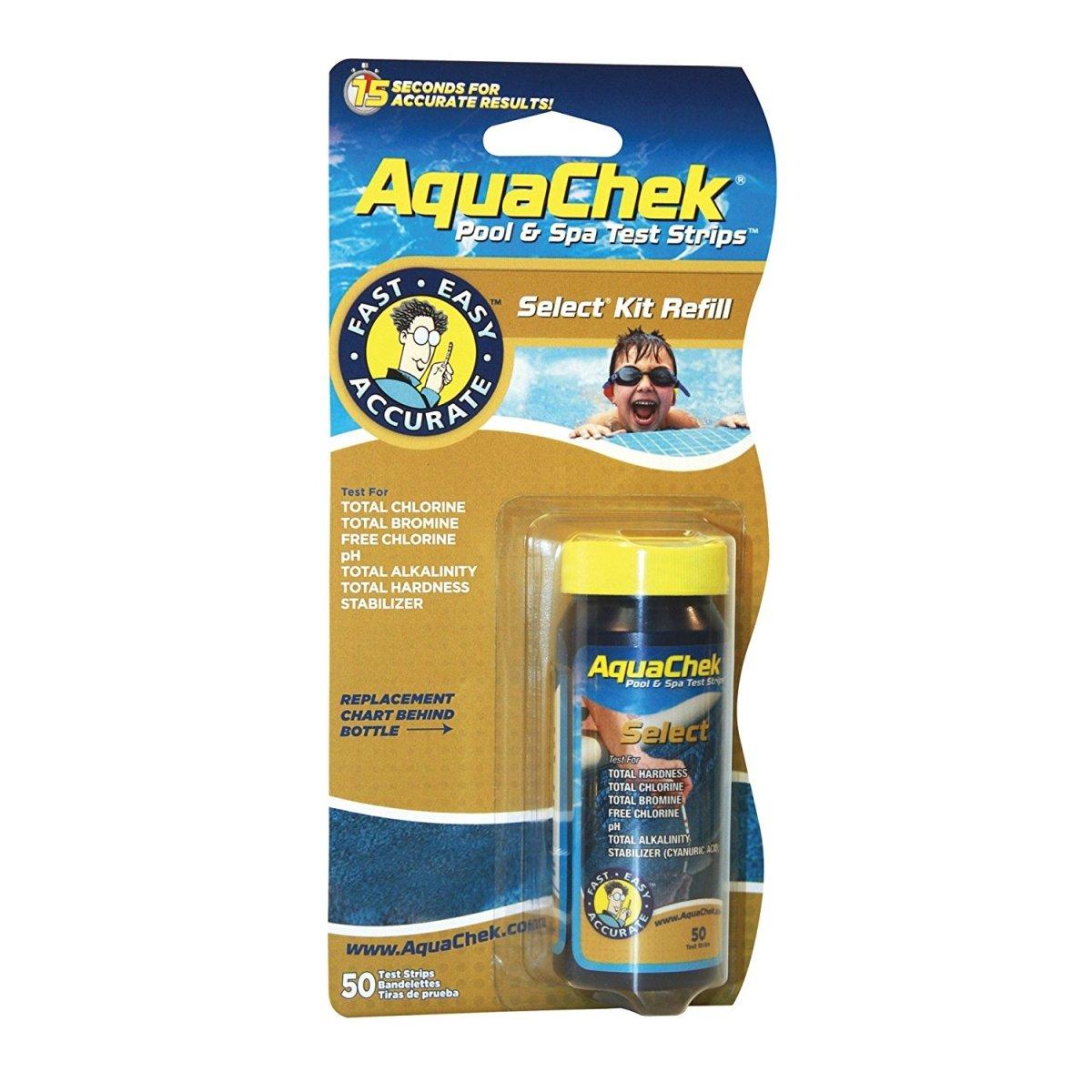 50) AQUACHEK Select Refill Swimming Pool Spa 7 Test Strips pH/Chlorine Aquacheck Color: 541640, Model: , Home & Garden Store