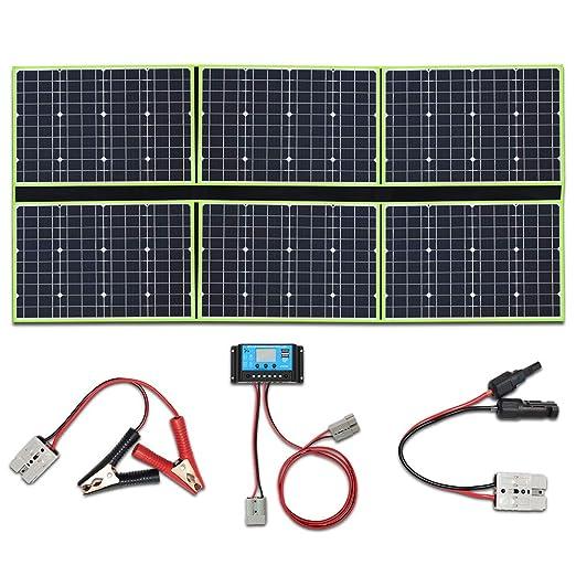 YUANFENGPOWER 300w 12 V pliegue panel solar cargador solar 6 x 50 vatios 20v módulo solar mono con controlador de carga 30A para barco, automóvil, ...