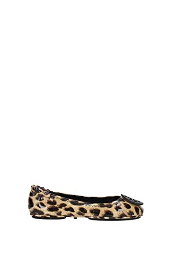ca11bdc0e537 Tory Burch Minnie Travel Patent Leather Ballet Flats in Natural Leopard  Size 6.5