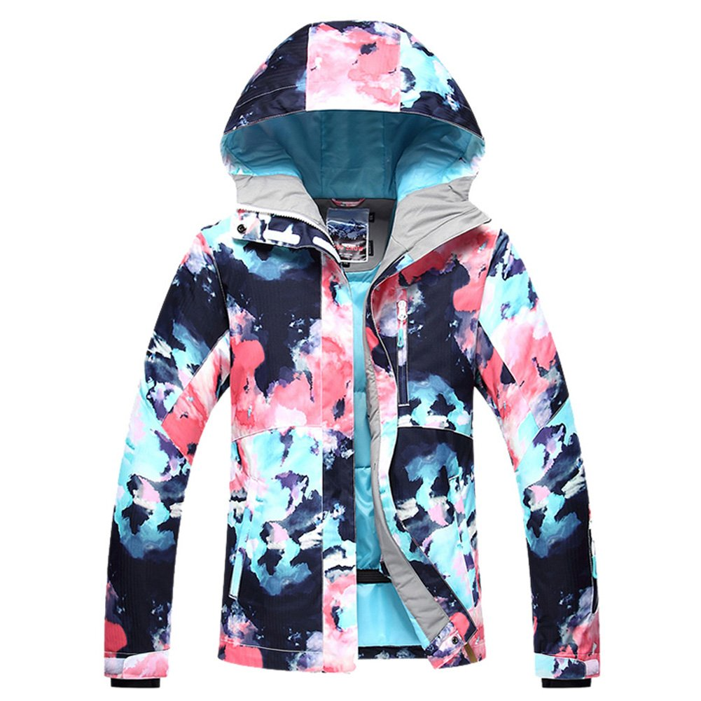 HOTIAN Women's Windproof Waterproof Bright Color Ski& Snowboarding Jacket Pants