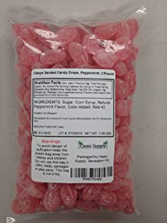 product image for Claeys Sanded Candy Drops, Peppermint, 2 Pound