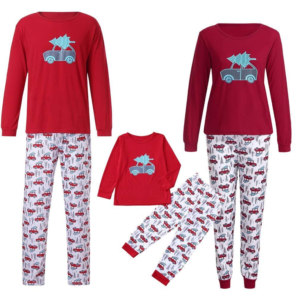 Natale Pigiami Famiglia Famiglia coordinazione Pigiami Pigiami Due Pezzi Donne Uomo Ragazzo Bambino Baby Tops + Pantaloni Abiti Set Indumenti da Notte Regali di Natale Vestiti per la casa