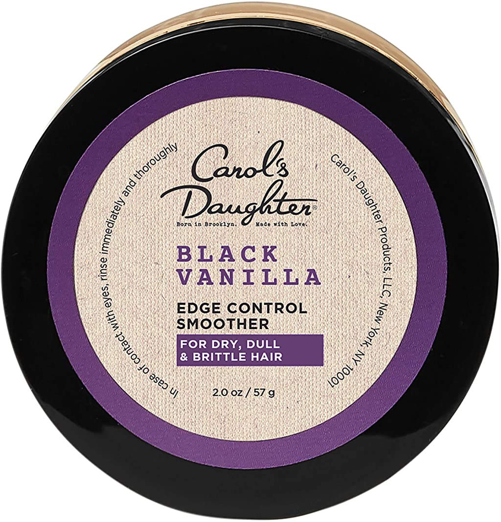 Carol's Daughter Black Vanilla Moisture & Shine Edge Control Smoother for Dry Hair and Dull Hair, with Aloe and Honey, Clear Edge Smoother, Edge Tamer, 2 oz