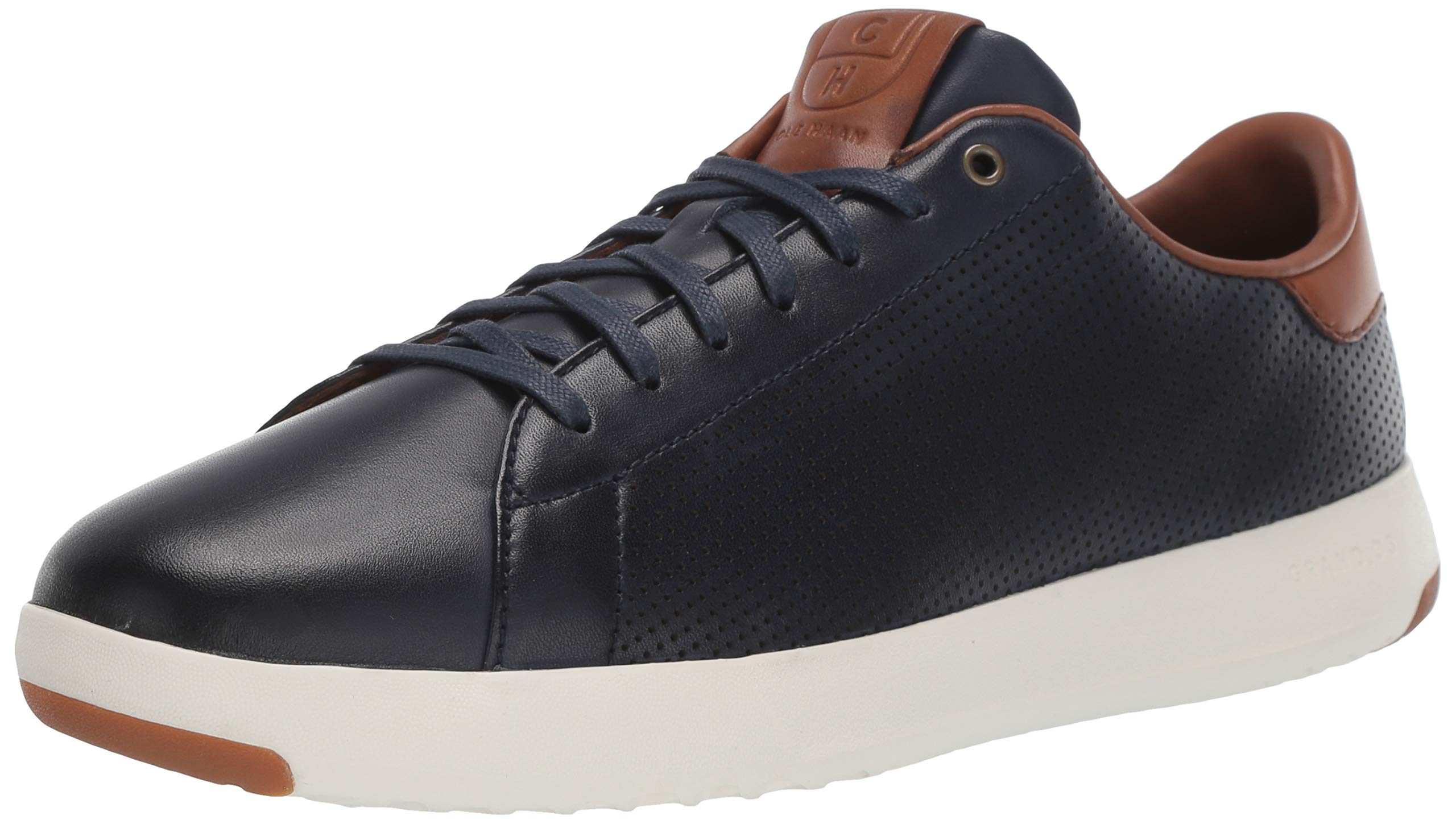 Cole Haan Mens Grandpro Tennis Sneaker 7 Navy Handstained Leather