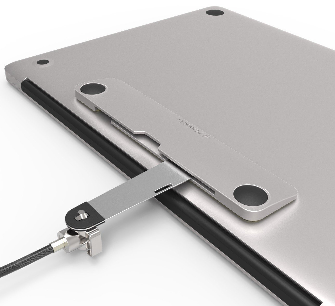 Maclocks BLD01KL Blade Universal Laptop and Tablet Bracket with Keyed Straight Cable Lock (Silver) by Compulocks (Image #4)