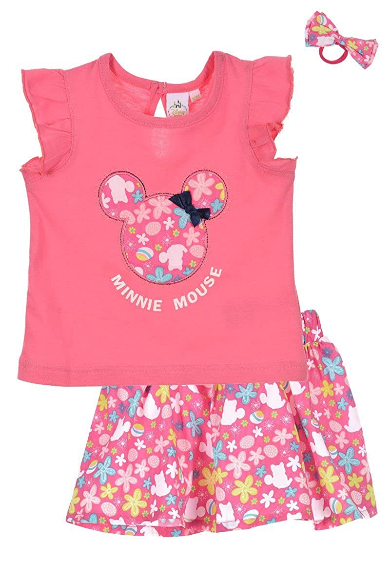 Disney COJUNTO 3 PZ T-Shirt + Falda + Bandeau Minnie Mouse Rosa 6 ...