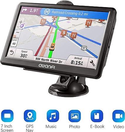 Navegador GPS de 7 Pulgadas para Coche con Wi-Fi Integrado y actualizaciones de por Vida gratuitas en Reino Unido y Europa Completa 2019 HOCOMO