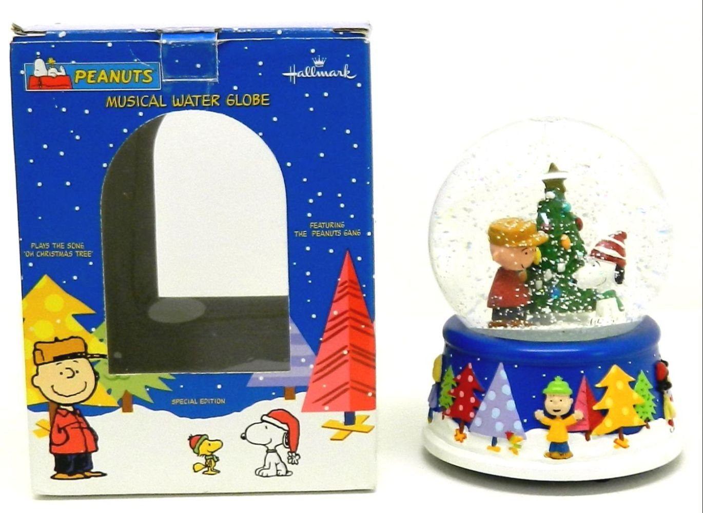 Peanuts Christmas Musical Snow Globe by Hallmark by Peanuts (Image #1)