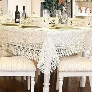 Toalha de Mesa Rendada Provence Santista - Quadrada 4