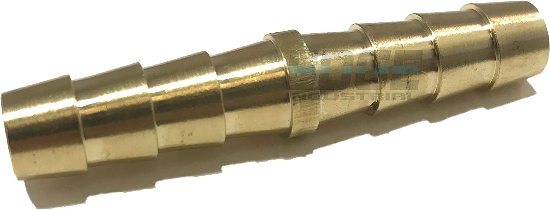"EDGE INDUSTRIAL 5/16"" Hose ID Brass Hose Barb SPLICER Union Fitting Fuel / AIR / Water / Oil / Gas / WOG (Qty 1)"