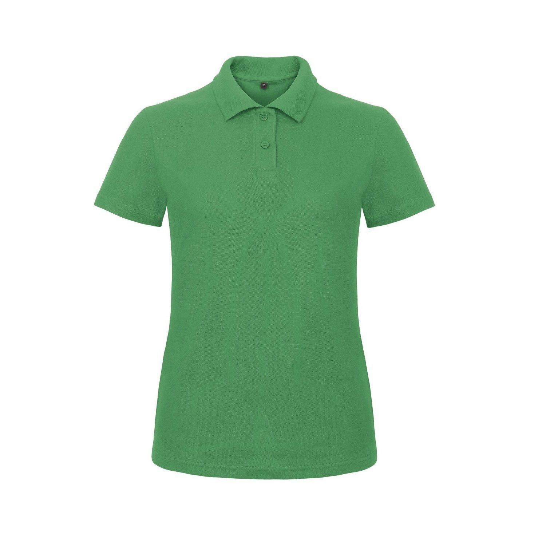 B& C Womens/Ladies ID.001 Plain Short Sleeve Polo Shirt B and C