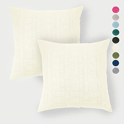 Amazon Linen Pillow Covers 40 X 40 Inch Sets Of 40 Creamy White Inspiration 20 X 20 Inch Pillow Covers
