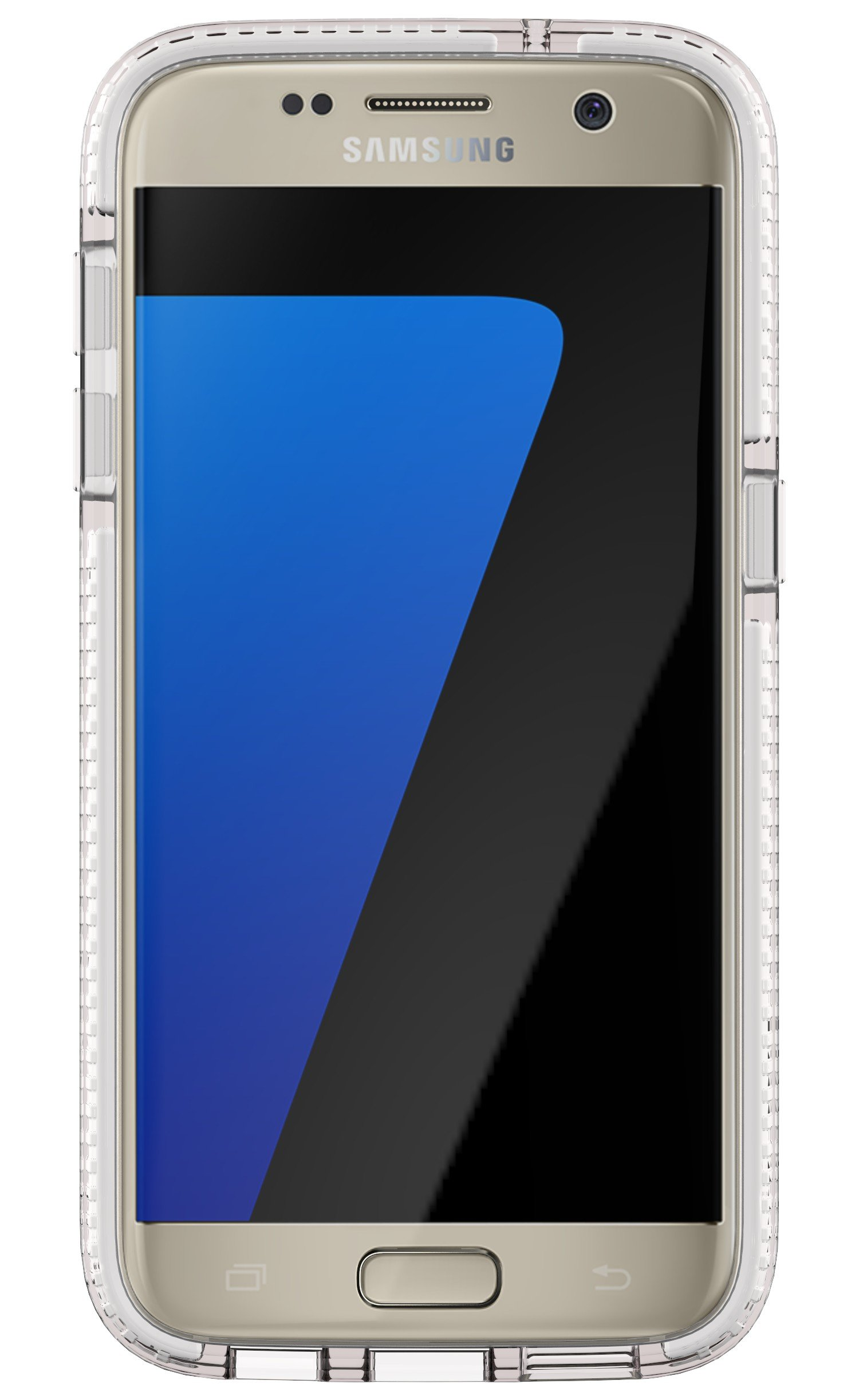 Tech21 Evo Check Case for Galaxy S7 - Clear/White by tech21 (Image #1)