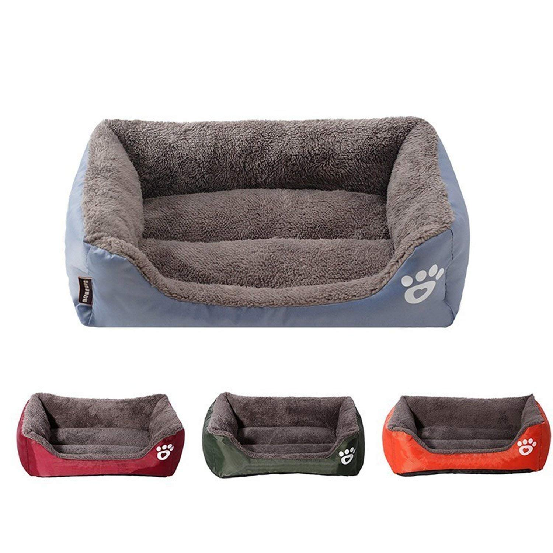 Amazon.com : ZZmeet 9 Colors Paw Pet Sofa Dog Beds ...