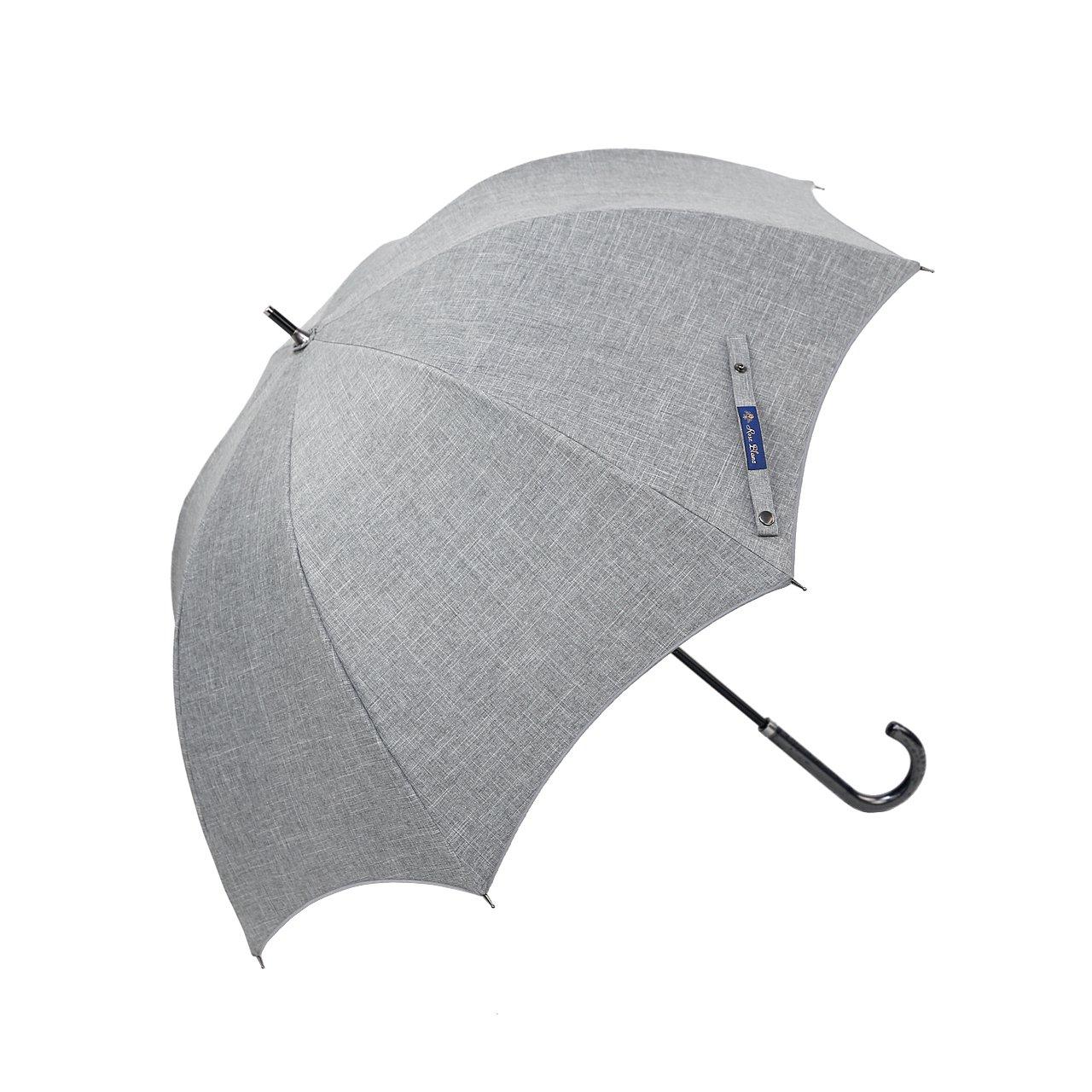 【Rose Blanc】100%完全遮光 日傘 プレーン ラージサイズ ダンガリー 60cm 15 (ダンガリーグレー) B0141VUSM8ダンガリーグレー