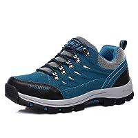 FZUU Femme Homme Chaussures de Randonnée Imperméable Lacées Plates Confortable et Respirant Bleu 35-44