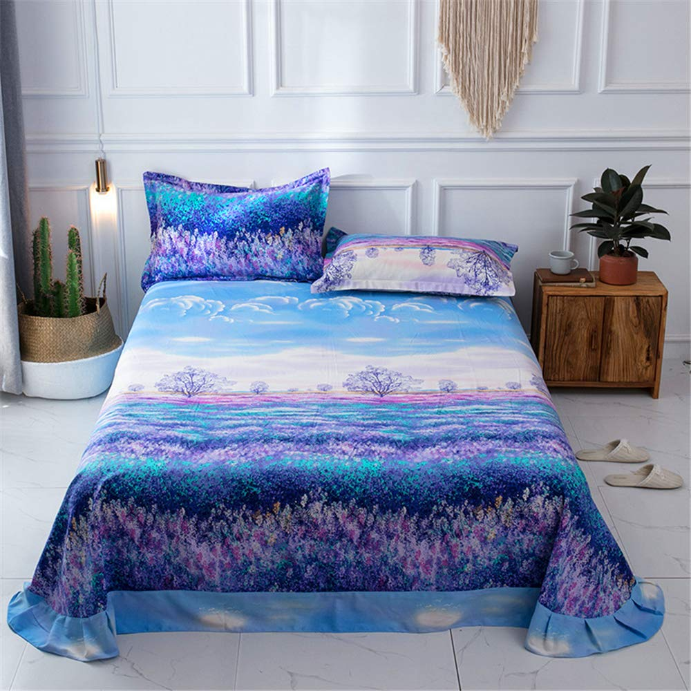 Cotton Sheets Single Piece Bedding Thickening Autumn and Winter Cotton Sanding Single Bed 1.8 / Single Double Increase Sheets Provence 200230cm by iangbaoyo