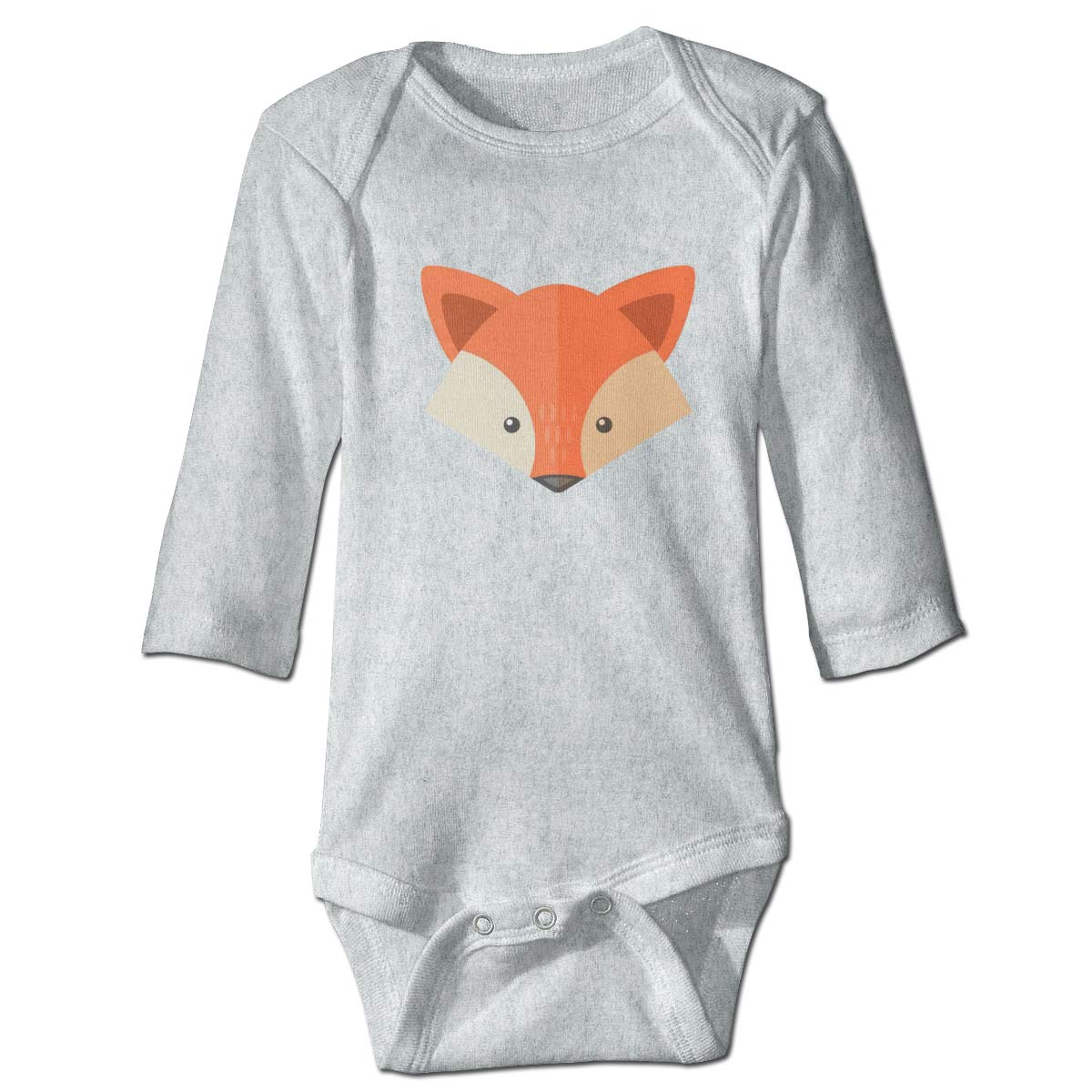 Baby Long Sleeve Classic Fox Onesies Bodysuit Soft Romper Outfits for Boys Girls