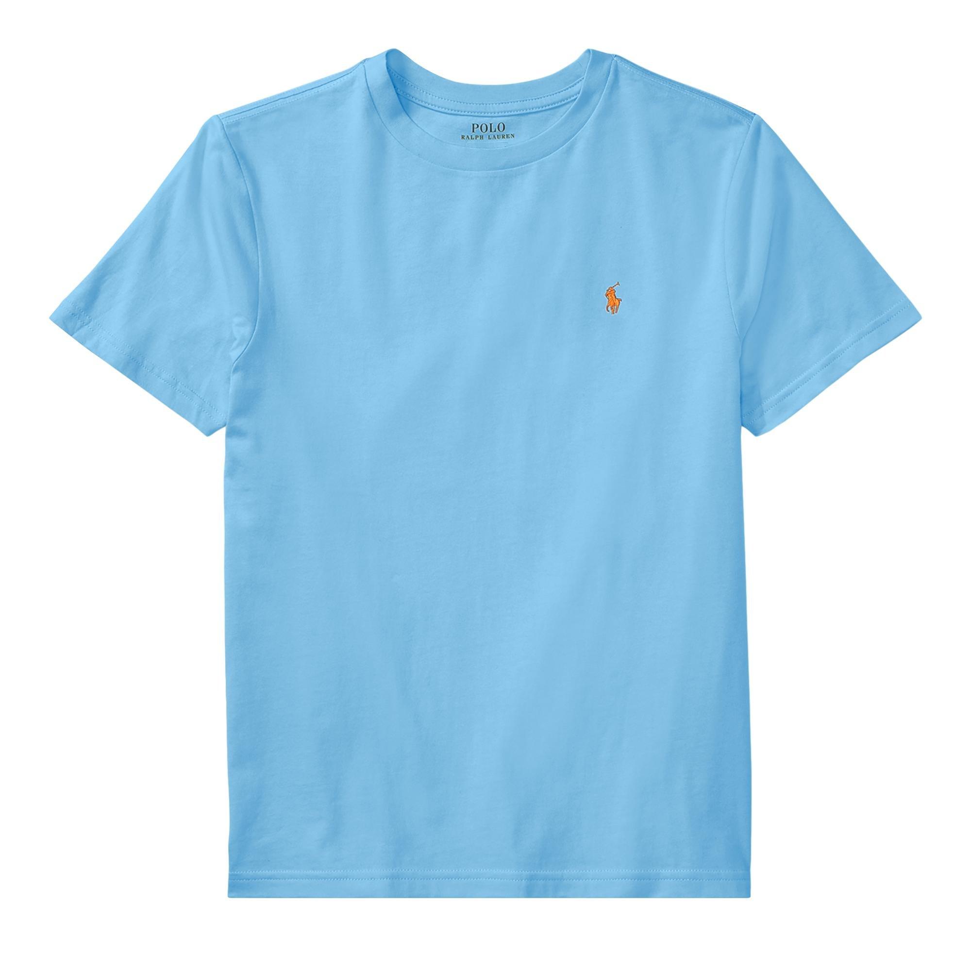 RALPH LAUREN Polo Boys Crew Neck Pony Logo T-Shirt (XL, BlueLagoon)