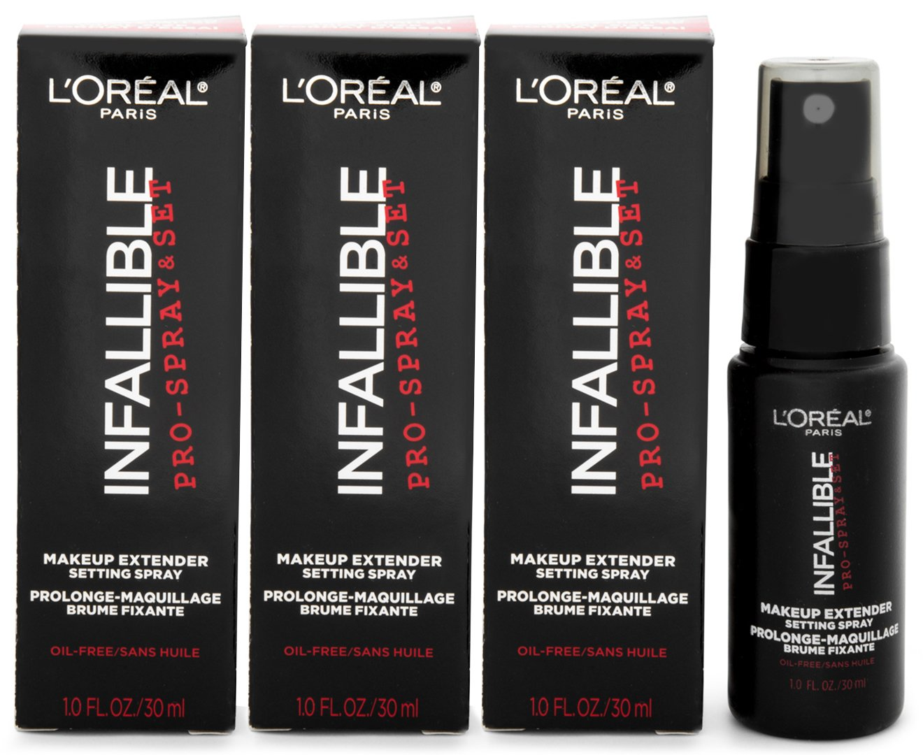 L'Oreal Paris Cosmetics Infallible Pro-Spray and Makeup Extender, Setting Spray,Travel size 30 ml/1.0 fluid ounce by L'Oreal Paris