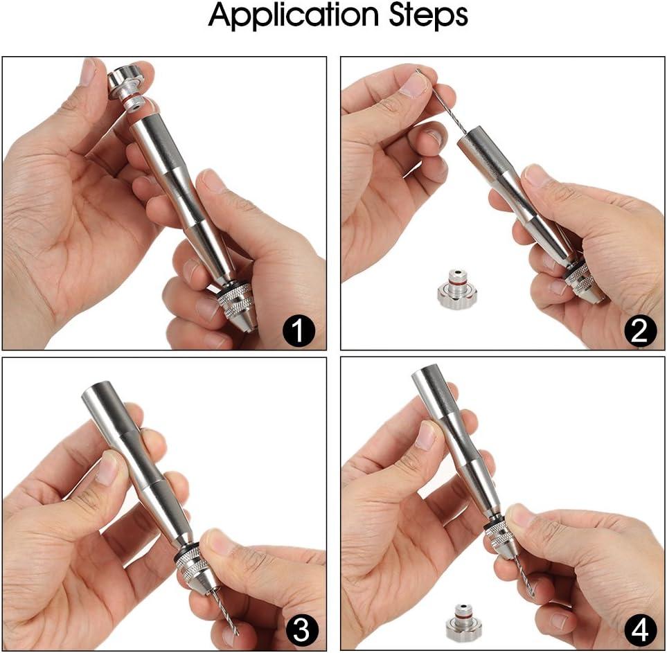 Twist drill set para taladro de agujero con Taladro de mano mini,11 pcs alta velocidad de acero torsi/ón broca set taladro broche mano