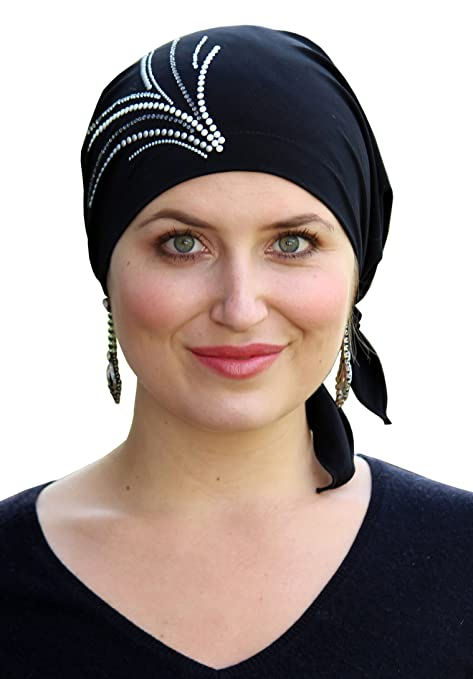 1920s Flapper Headbands Celeste Pre-tied Headscarf for Cancer Patients R-146 $29.99 AT vintagedancer.com