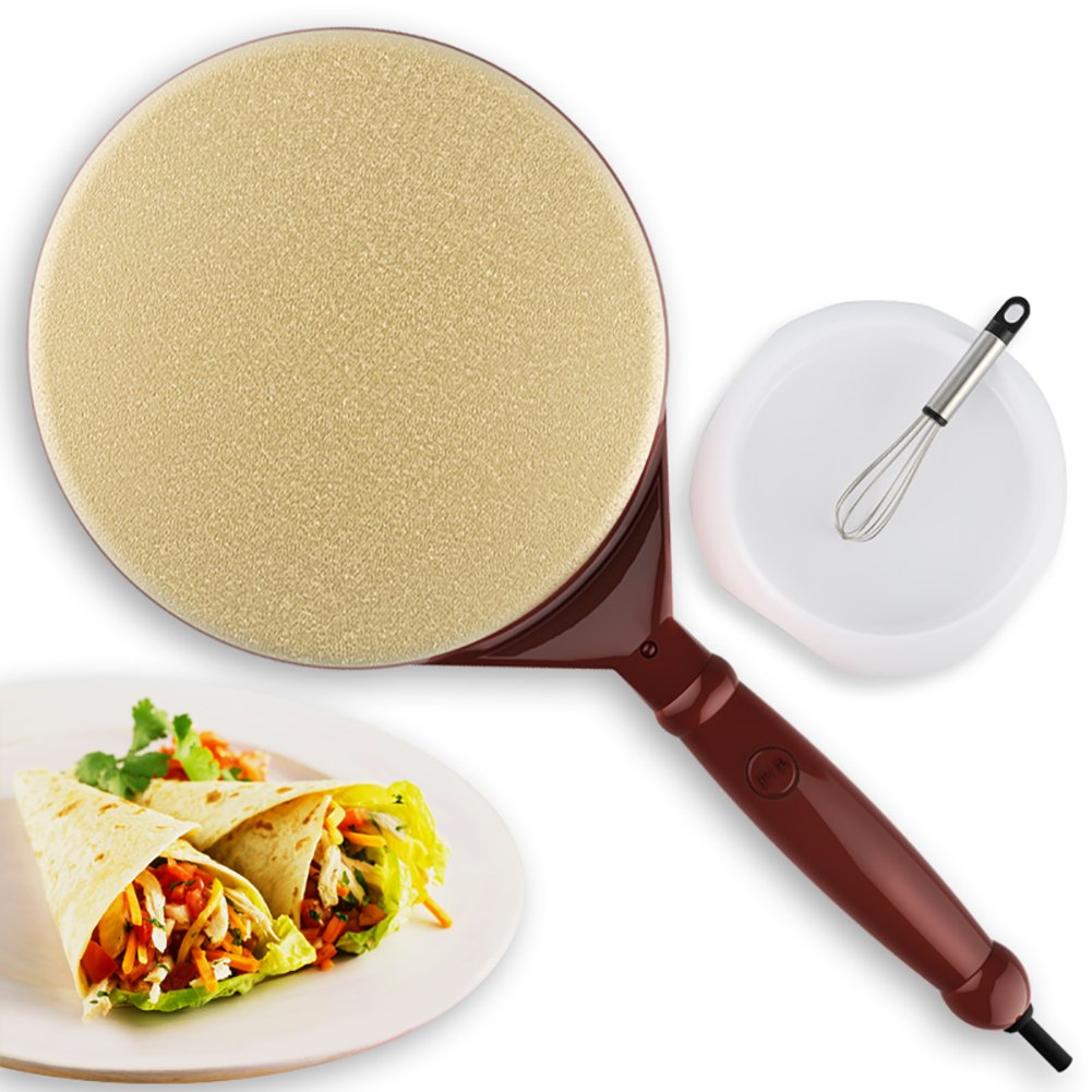 DULPLAY Crepe maker,Crepe maker pan,Electric griddle machine,600w 100% non-stick surface Pan style hot plate cooktop with on Off switch-A 42.5x21x7cm(17x8x3inch)