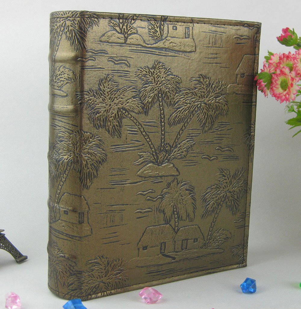 Longpro Imitation Leather Photo Album Deluxe Series Vacation Honeymoon Holiday Travel Souvenir(Butterfly)