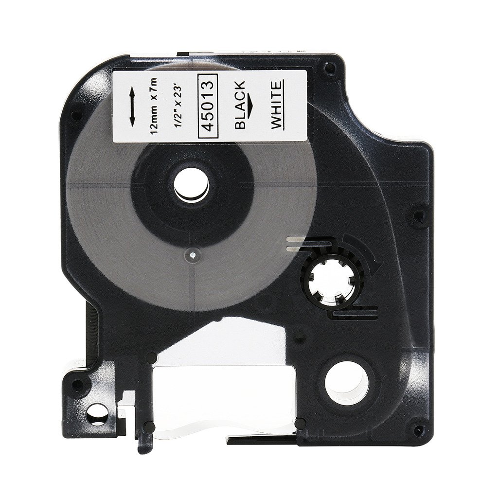 Great Quality Black on White Label Tape Compatible for DYMO D1 45013 S0720530