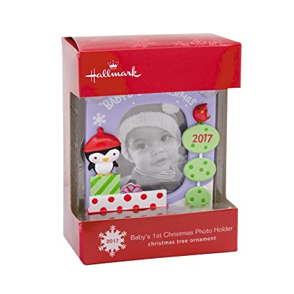 hallmark babys first christmas 2017 picture frame christmas ornament