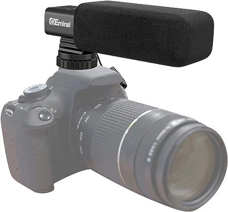 Micrófono de cámara, Emiral Micrófono de entrevista estéreo ...