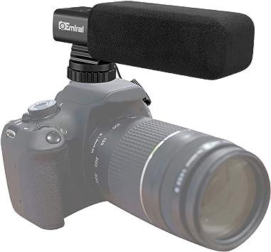Micrófono de cámara, Emiral Micrófono de entrevista estéreo Profesional Micrófono de Escopeta direccional Micrófono en la cámara para cámara DSLR/videocámara DV …: Amazon.es: Electrónica