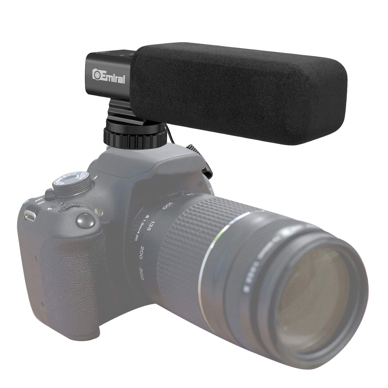 Kamera Mikrofon, Emiral Interview Mikrofon, Shotgun Video Mikrofon fü r DSLR-Kamera/DV-Camcorder MIC-03