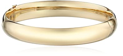 simple women bracelet hammered full k round solid gold bangle set pin bangles