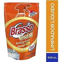 Brasso Antigrasa Gold, color Naranja, Doypack 650ML, pack of/paquete de