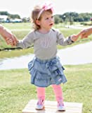 RuffleButts Baby/Toddler Girls Ruffled Light Wash