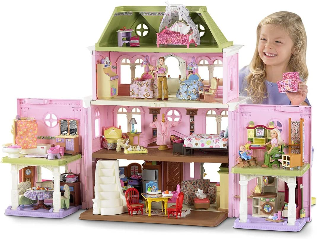 Amazon Com Fisher Price Loving Family Grand Dollhouse Discontinued By Manufacturer Toys Games