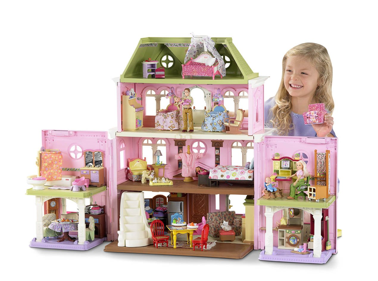 Fisher price doll house furniture - Amazon Com Fisher Price Loving Family Grand Dollhouse Discontinued By Manufacturer Toys Games