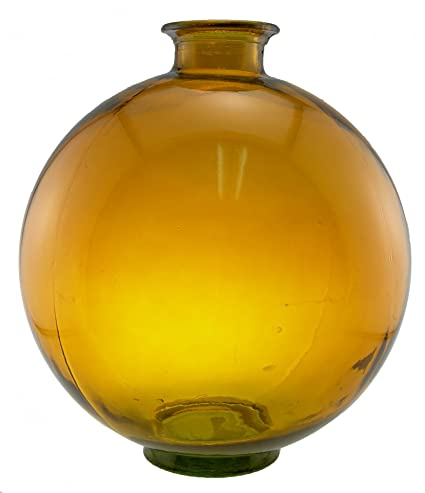 Buy Espana 1575 Inch Tall Large Round Glass Vase Amber Online At