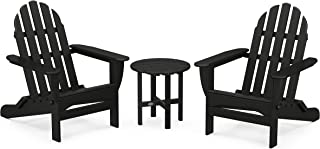 product image for POLYWOOD PWS214-1-BL Classic Adirondack Chair Seating Set in Black