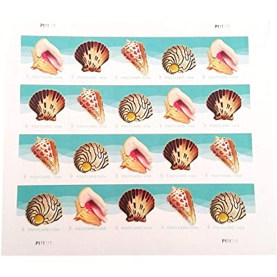 USPS Seashells Postcard Stamps (1 Sheet of 20 Stamps): Everything Else