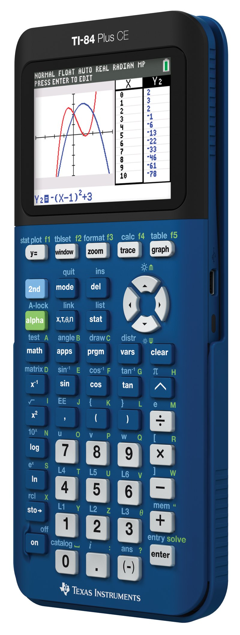 Texas Instruments TI- 84 Plus CE Denim Graphing Calculator