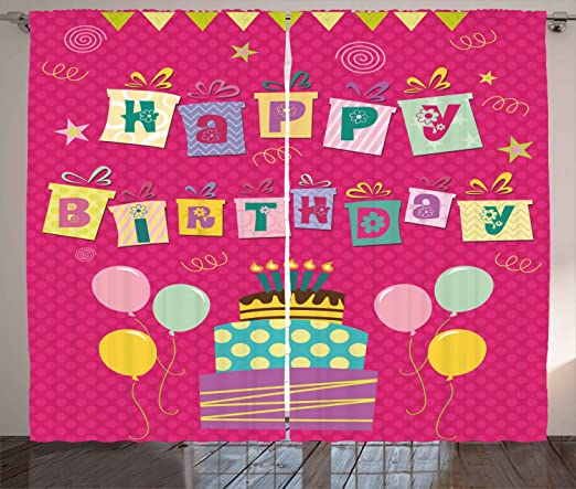 Amazon.com: Ambesonne decoración de cumpleaños para niños ...