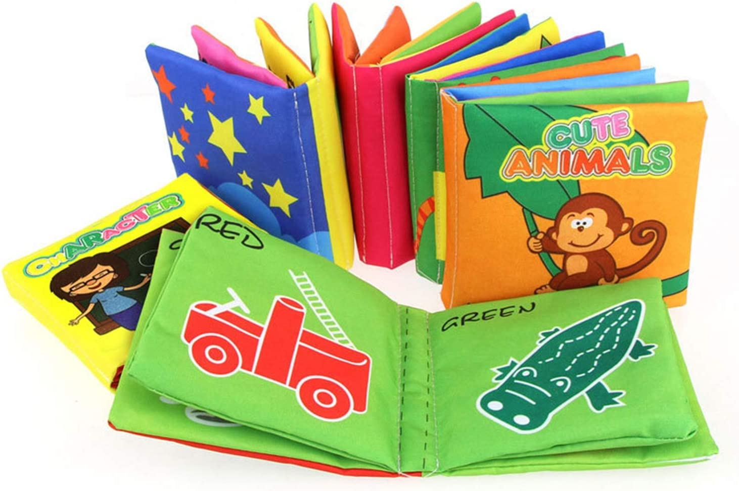 GreceMonday Grands Jouets Cadeaux pour Enfants Cartoon b/éb/é Parole Livre Intelligence Development Education Jouets Colorful