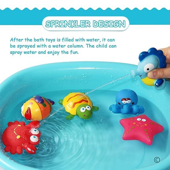 Gelernt Beeboo Baby Badetiere 6 Stück Badespielzeug Spielzeug Wasserspielzeug Wassertier Baby Badespielzeug