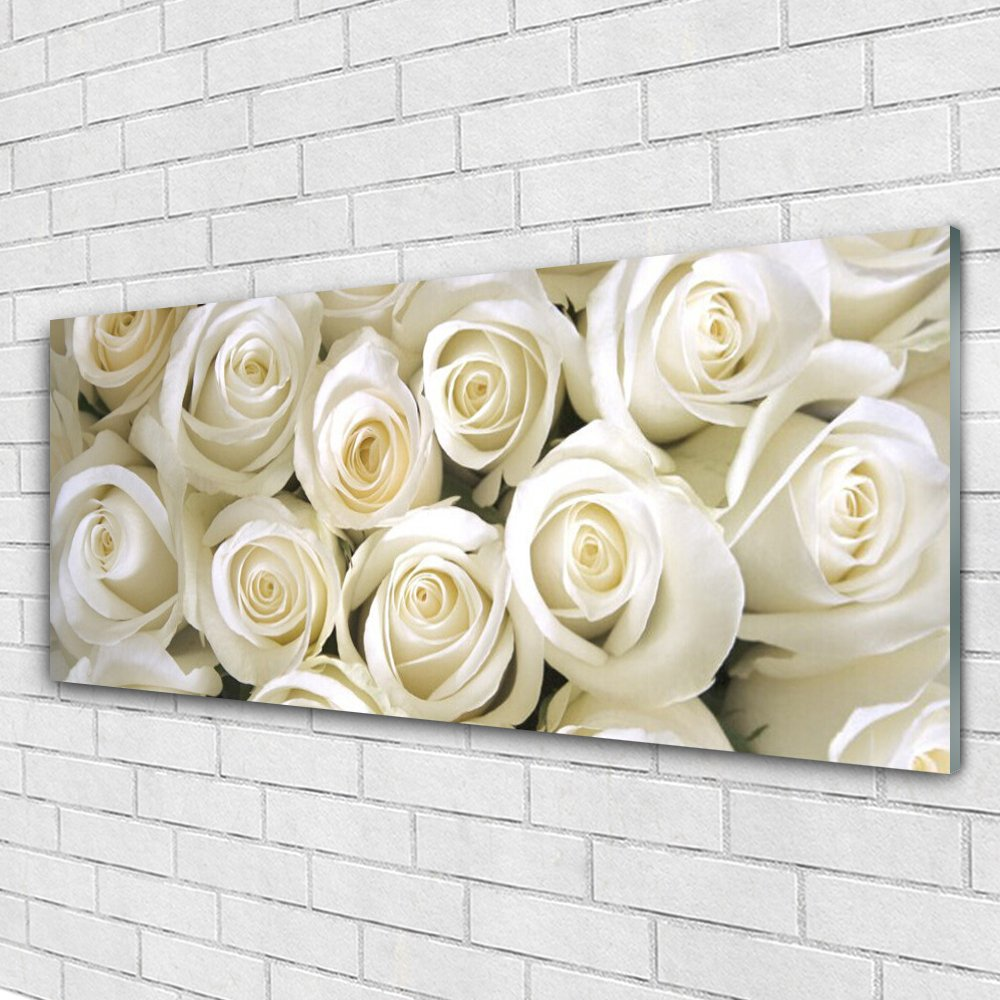 Acrylic Glass Print Wall Art by Tulup 125x50cm Image printed on Plexiglas® - Wall Picture behind Plastic / Acrylic Glass - Roses Floral
