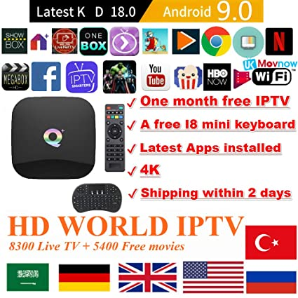Amazon com: 2019 Android 9 0 TV Box Q Plus TV Box H6 Quad