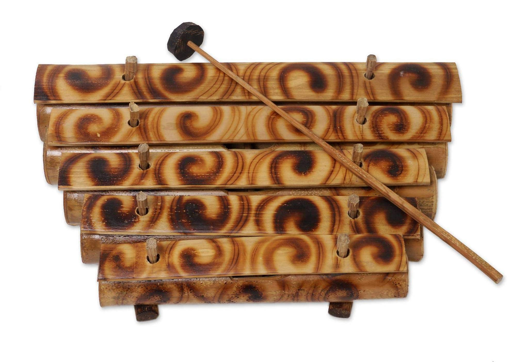 Wood Xylophone With Mallet 5 Tone Bamboo Zen Energy Chime Percussion Instrument - Large Size