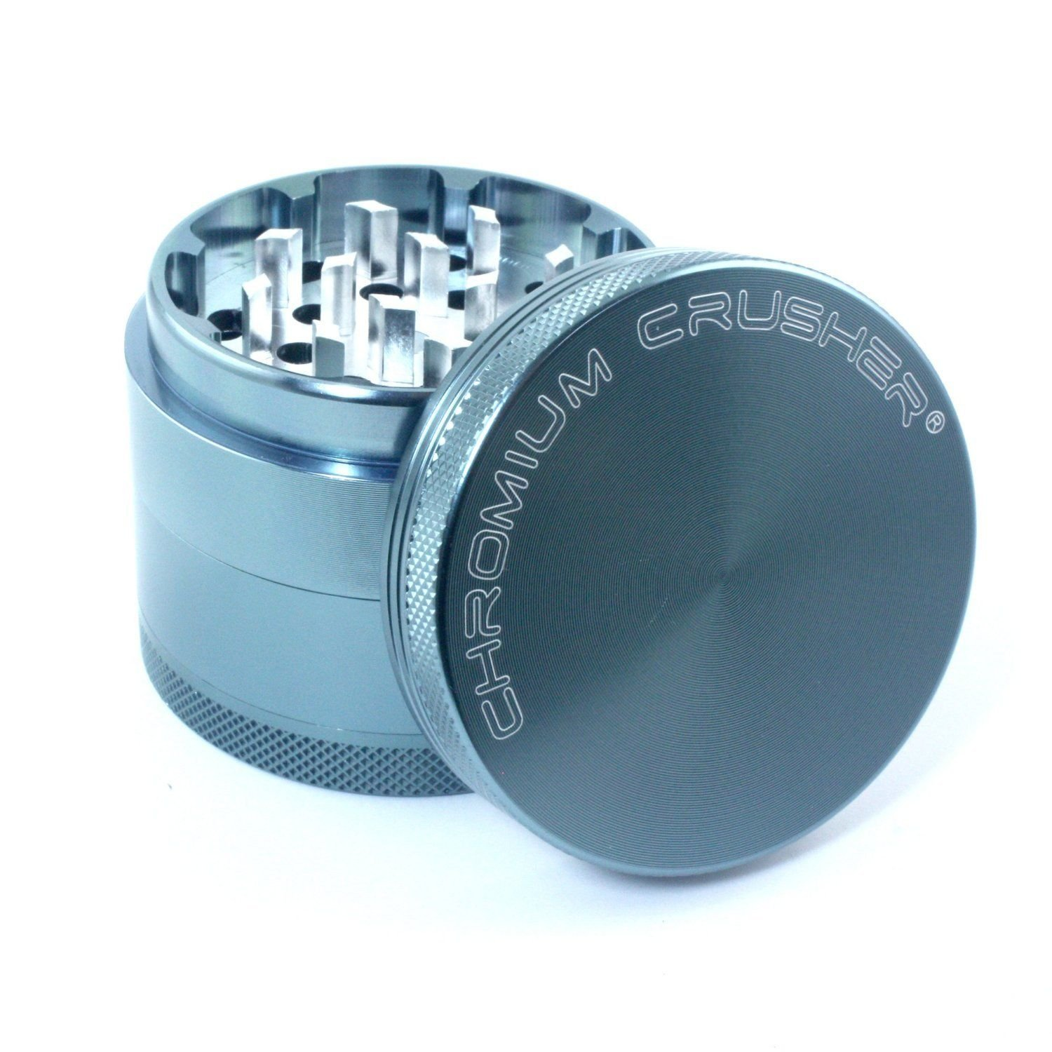 Chromium Crusher 2 Inch 4 Piece Tobacco Spice Herb Grinder - Black