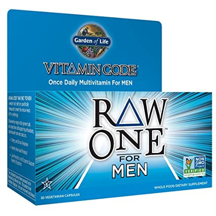 Garden of Life - Código el CRUDO de la vitamina para los hombres - 30 cápsulas
